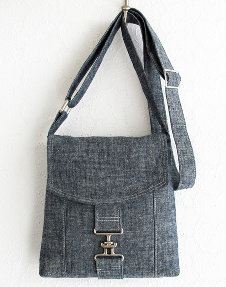 Size 2 Chambray Messenger Bag