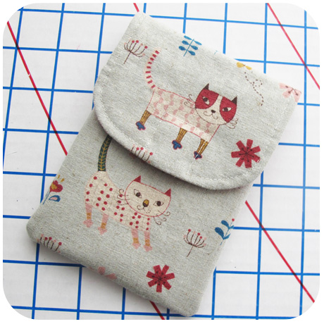 Here Kitty Kitty Passport Pouch