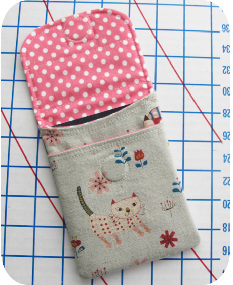Here Kitty Kitty Passport Pouch Inside