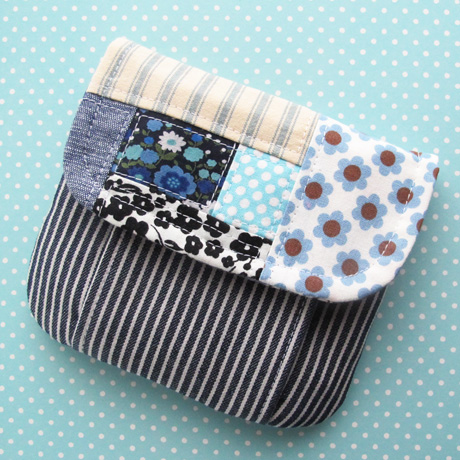 Patchwork Pleated Pouch Small