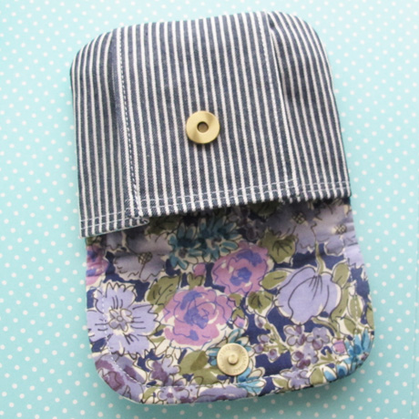 Patchwork Pleated Pouch Small Lining