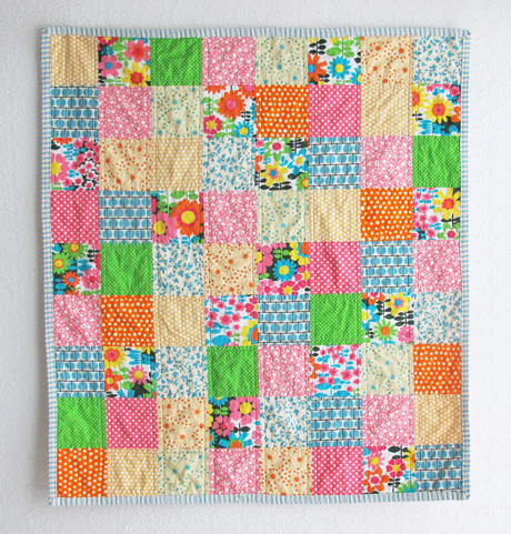 Baby quilt top finished