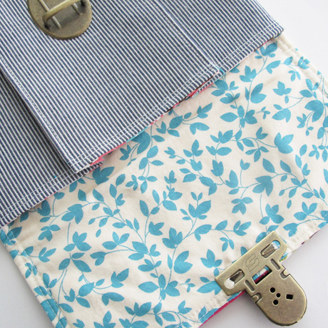 Medium Patchwork Pleated Pouch Lining