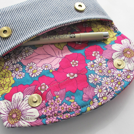 Striped Pouch Lining