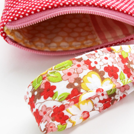 Applique Heart Pouch Lining
