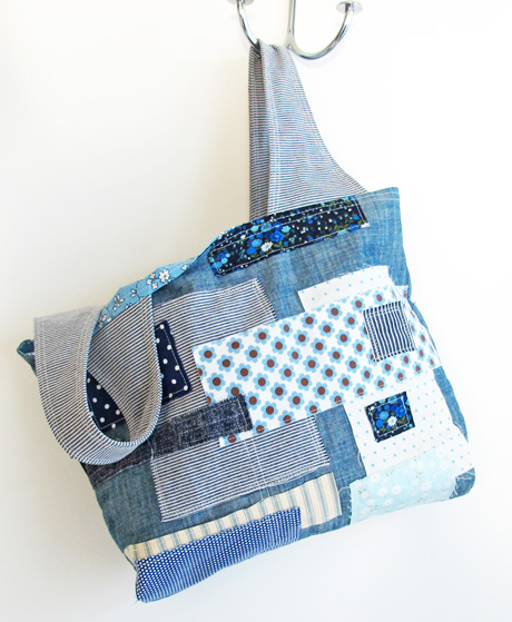 Boro patchwork grocery bag