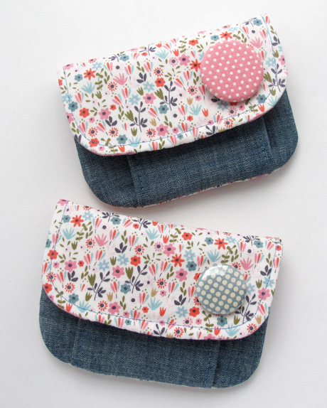 Tiny Floral Pleated Pouches