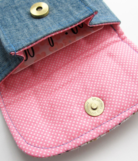 Tiny Floral Pleated Pouches Lining