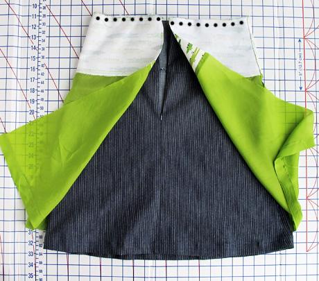 Sew Lining to Waist