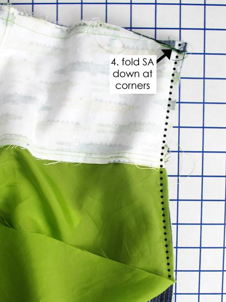 Sew Lining to Zipper