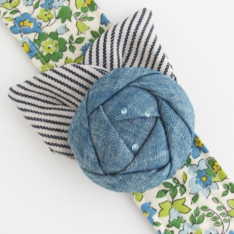 Chambray flower cuff