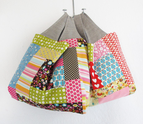 Patchwork grocery bags