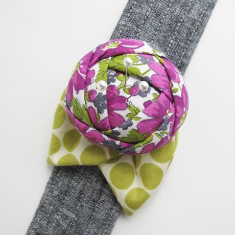 Vintage floral fabric cuff