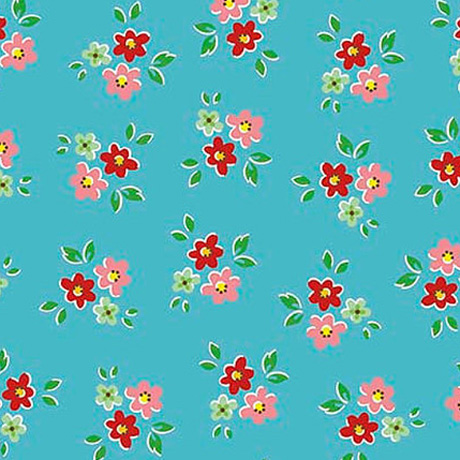 Backyard roses fabric