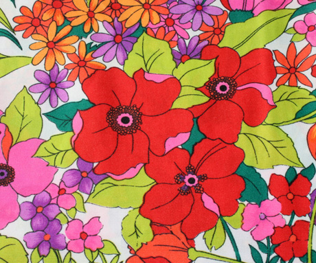 Bright Vintage Poly Fabric