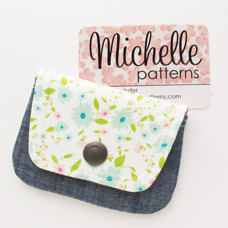 Blue Floral Card Wallet