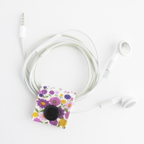Sevenberry purple floral fabric cord keeper