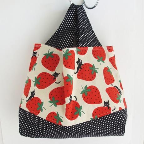 Medium cream kokka strawberries 2