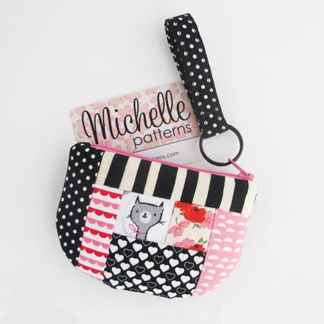 Patchwork zip pouch #1