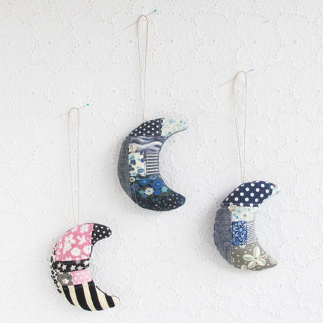 Patchwork Crescent Moons