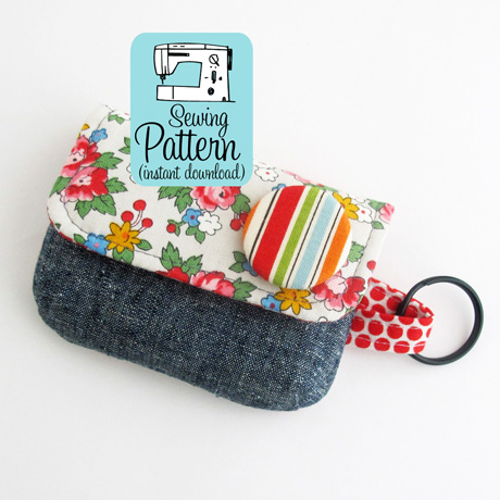 Keychain clutch pdf sewing pattern