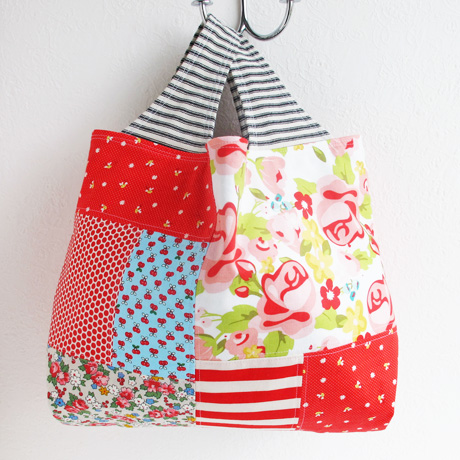 Patchwork tote bag 2 side 2
