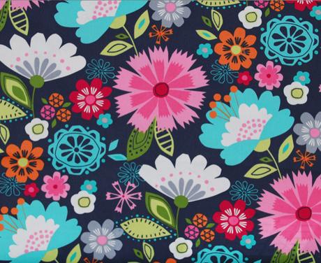 favorite fabrics - large bright and beautiful flowers