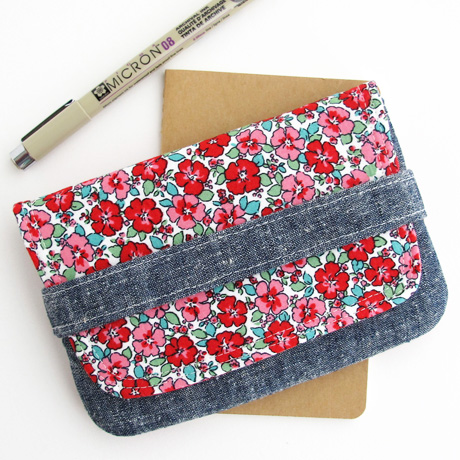 Floral Journal Pouch