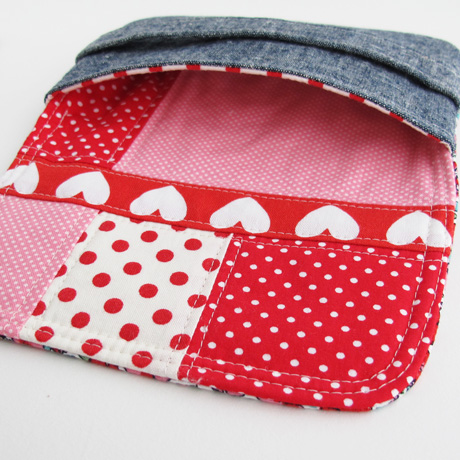 Pink and Red Patchwork Lining