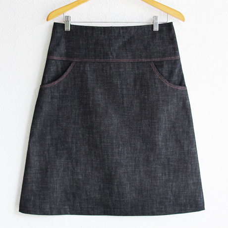 denim a line skirt michellepatterns