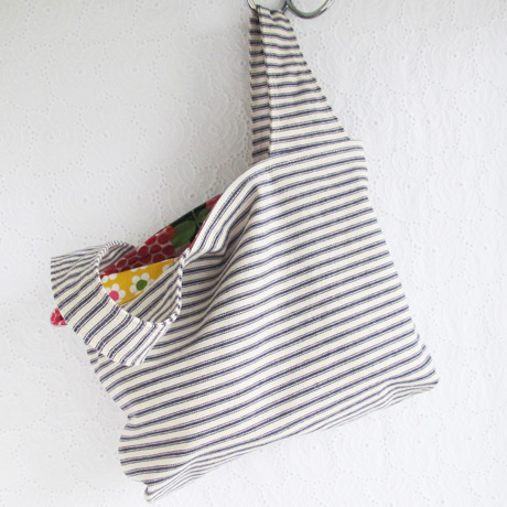 Small Grocery Bag Ticking Stripe
