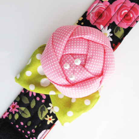 Sweet Garden Pincushion Cuff