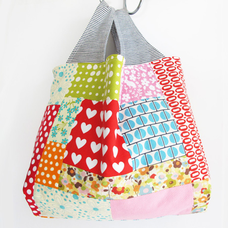 Patchwork grocery bag