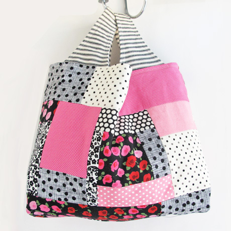 Pink and Black Patchwork Side 2