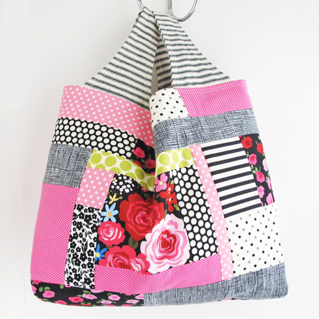 Pink patchwork bag