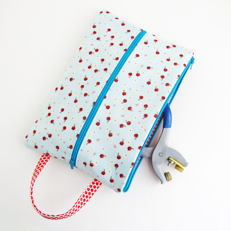 Cherries double zipper tool pouch