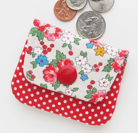Spring bouquet coin purse