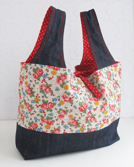 Small Spring Bouquet Grocery Bag