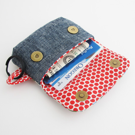 Keychain clutch mini wallet sewing pattern inside image