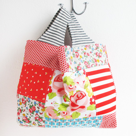 Patchwork tote bag 2 side 1