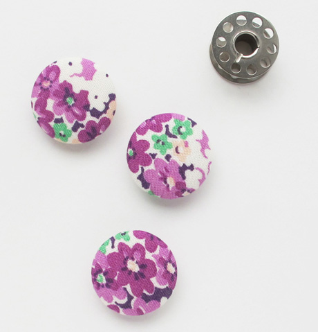 Purple Vintage Floral Buttons