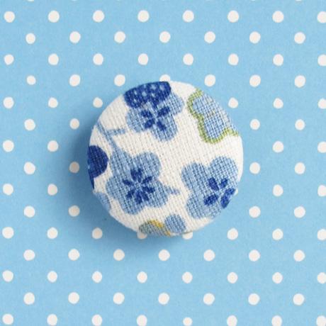 Blue cherry blossom brooch 1 inch