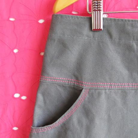 Grey canvas pocket
