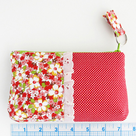 Red Lecien Floral Clutch