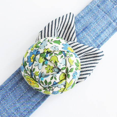 Blue Floral Pincushion Cuff