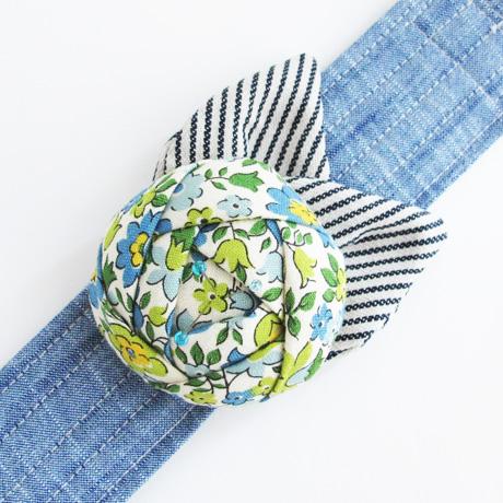 Blue Floral Pincushion Cuff