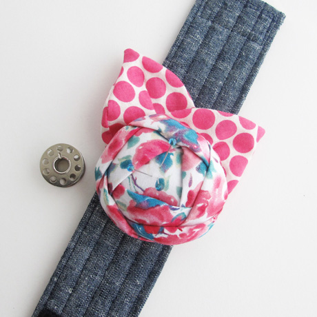 Pink and Teal Cuff