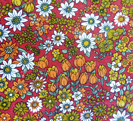 Vintage French 1970s Fabric