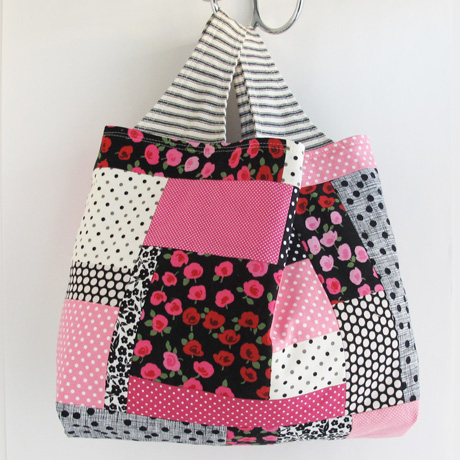 Pink and Black Patchwork Side 1