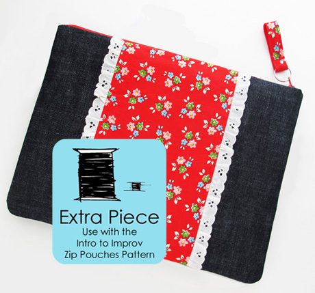 Large Zip Pouch Pattern Piece